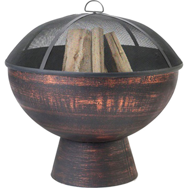 "26""W x 27 1/2""H Fire Bowl with Spark Screen"