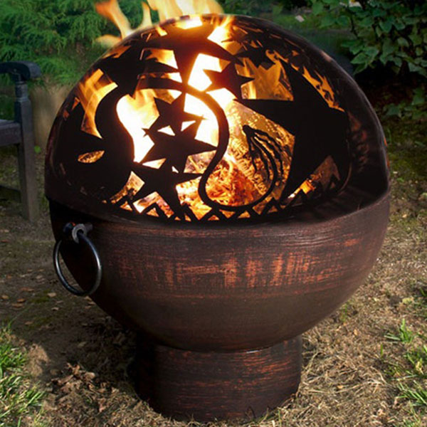 "26""W x 31""H Fire Bowl with Orion Fire Dome"