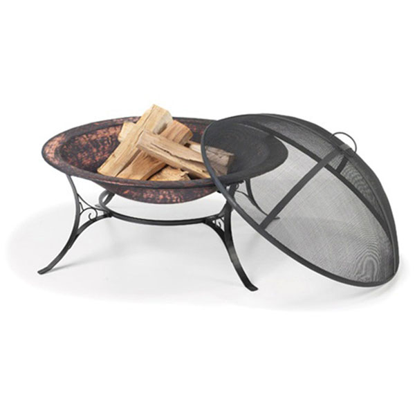 "30""W x 22 1/2""H Medium Fire Pit with Spark Screen"