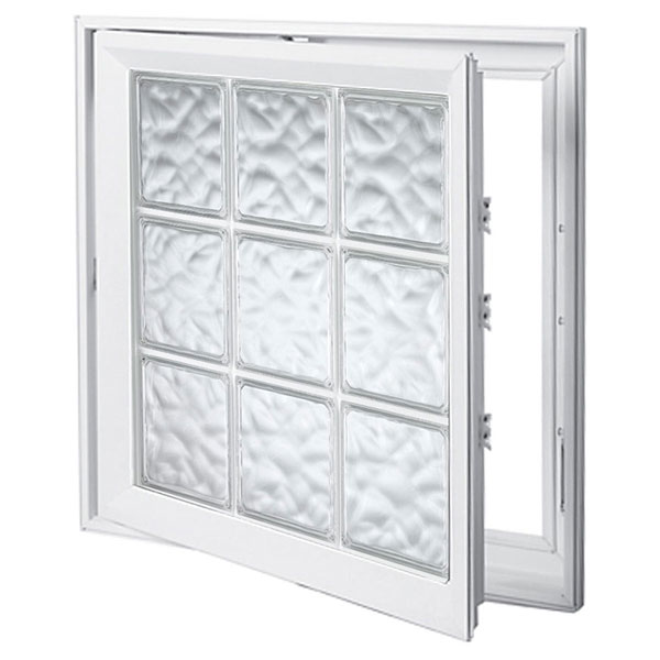 "Design Series Casement Windows - 8"" x 8"" x 1 1/2""Blocks"