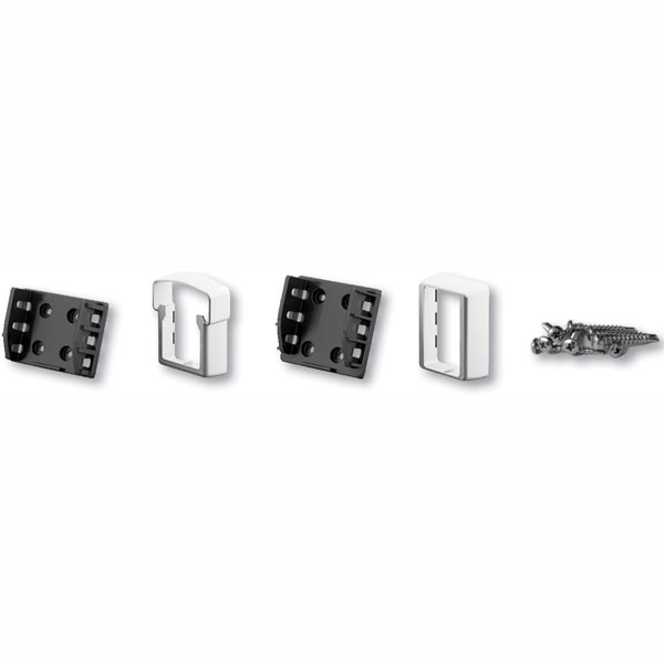 Straight QuickRail Bracket Kit (For use w/ QuickRail Straight Rail Kits), White