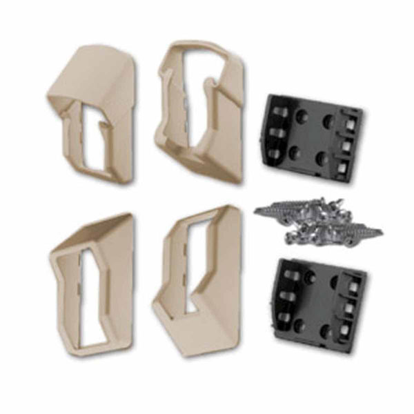 Stair QuickRail Bracket Kit (For use w/ QuickRail Stair Rail Kits), Tan