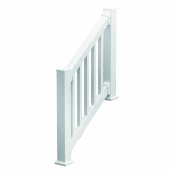 "36""H x 78""L (3 7/8"" Spindle Spacing) 6' Deluxe QuickRail Stair Kit w/ Square Spindles, White"