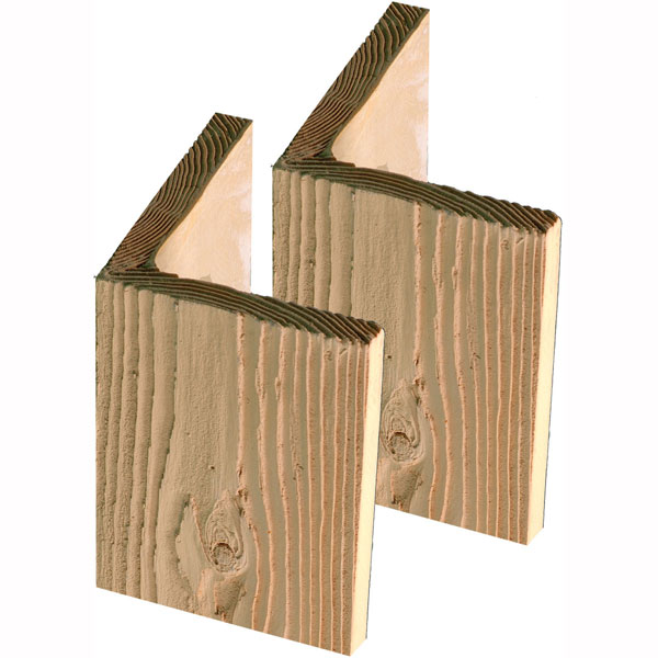"9 5/8""W x 9""H x 5/8""D Timber Post Wrap Base, Stainable"