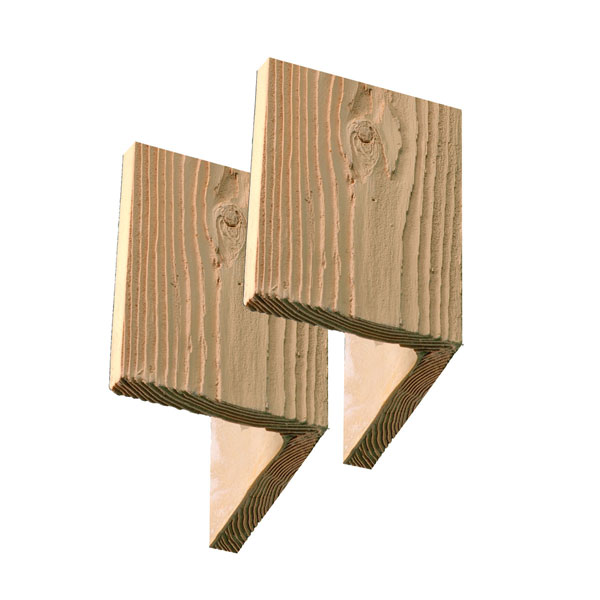 "9 5/8""W x 7""H x 5/8""D Timber Post Wrap Cap, Stainable"