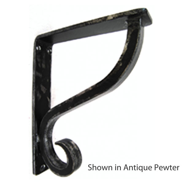 "1 1/2""W X 7 1/2""D x 10""H Camden Wrought Iron Bracket"