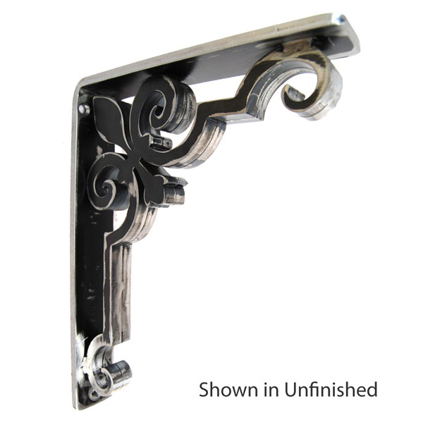 "1 1/2""W X 10""D x 12""H Charlotte Wrought Iron Bracket"