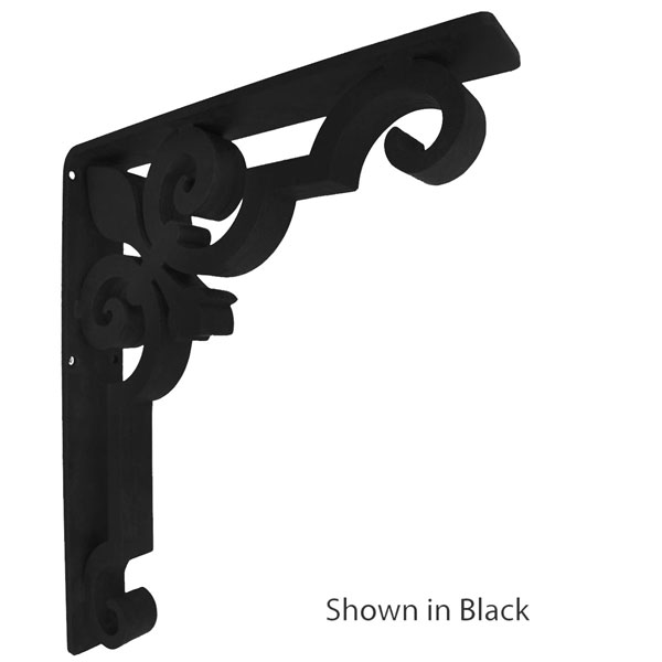 "2""W X 12""D x 15""H Charlotte Wrought Iron Bracket"