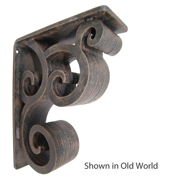 "3""W X 7 1/2""D x 10""H Isabelle Wrought Iron Bracket"