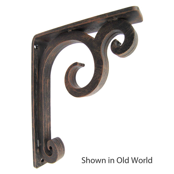 "1 1/2""W X 5 1/2""D x 8""H Keaton Wrought Iron Bracket"