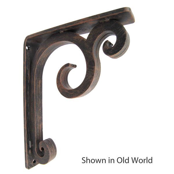 "1 1/2""W X 10""D x 12""H Keaton Wrought Iron Bracket"
