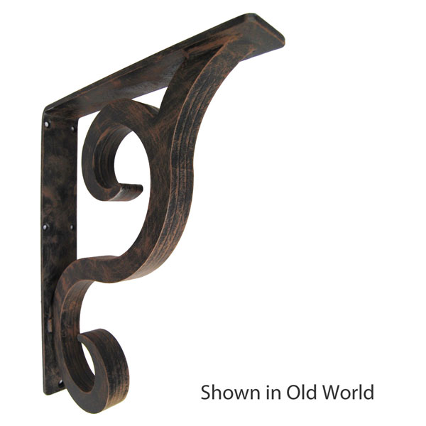 "2""W X 12""D x 15""H Prestyn Wrought Iron Bracket"