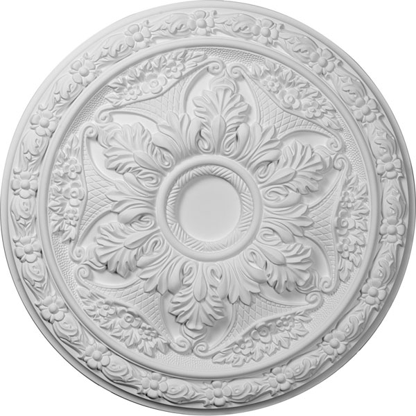 "20""OD x 1 5/8""P Baile Ceiling Medallion (Fits Canopies up to 3 1/4"")"