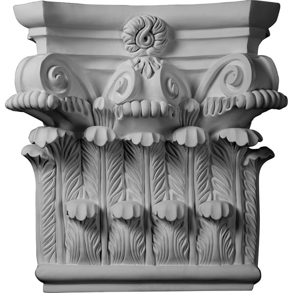 "25 1/4""W x 24 5/8""H x 8 1/4""P Corinthian Capital (Fits Pilasters up to 19 1/8""W x 2 3/4""D)"
