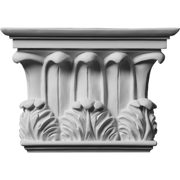 "10 3/4""W x 7 5/8""H x 2 3/4""P Temple of Winds Capital (Fits Pilasters up to 7 3/8""W x 1 1/8""D)"