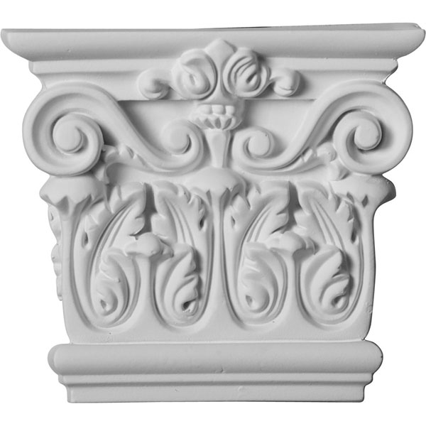 "5 3/4""W x 5 1/8""H x 1 3/4""P Corinthian Capital (Fits Pilasters up to 4""W x 1""D)"