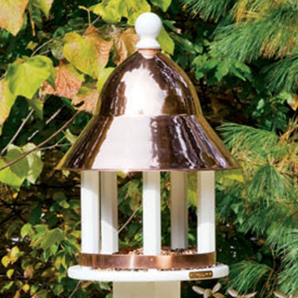 "17""W x 23 1/2""H Bell Feeder w/Copper Roof, Vinyl"