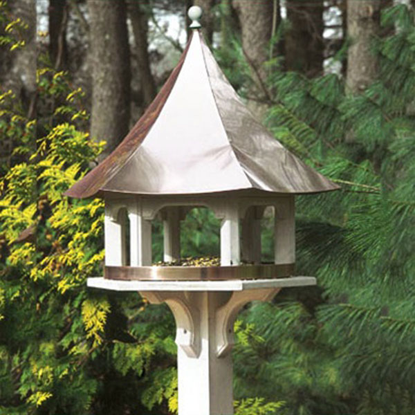 "25""W x 24""L Carousel Feeder w/Copper Roof, Vinyl"