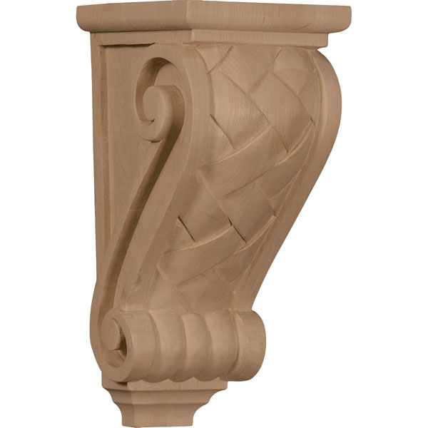 "4 1/2""W x 5""D x 10""H Medium Basket Weave Corbel"