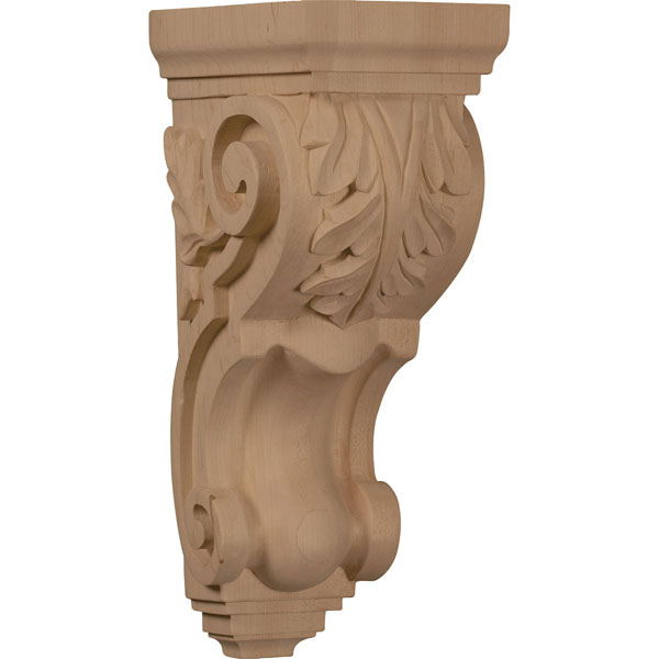 "5""W x 7""D x 14""H Large Traditional Acanthus Corbel"