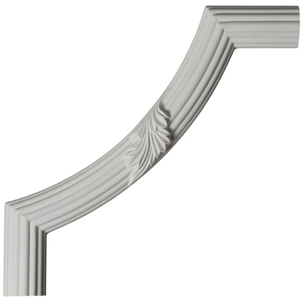 "12""W x 12""H x 1 1/8""P Reeded Acanthus Leaf Panel Moulding Corner"