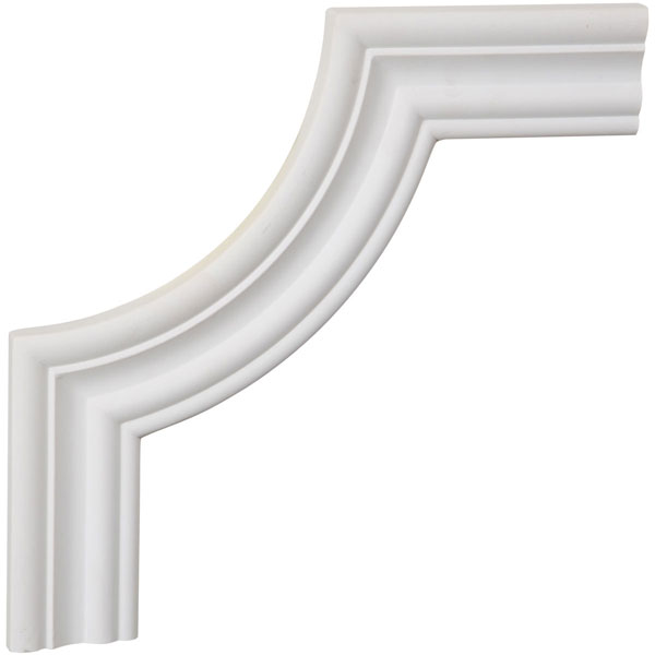 "10""W x 10""H x 5/8""P Oxford Panel Moulding Corner (matches moulding PML02X00OX)"