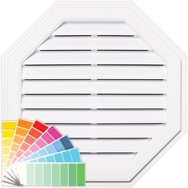 "32""W x 32""H Octagon Gable Vent Louver, 110 Sq. Inch Vent Area"