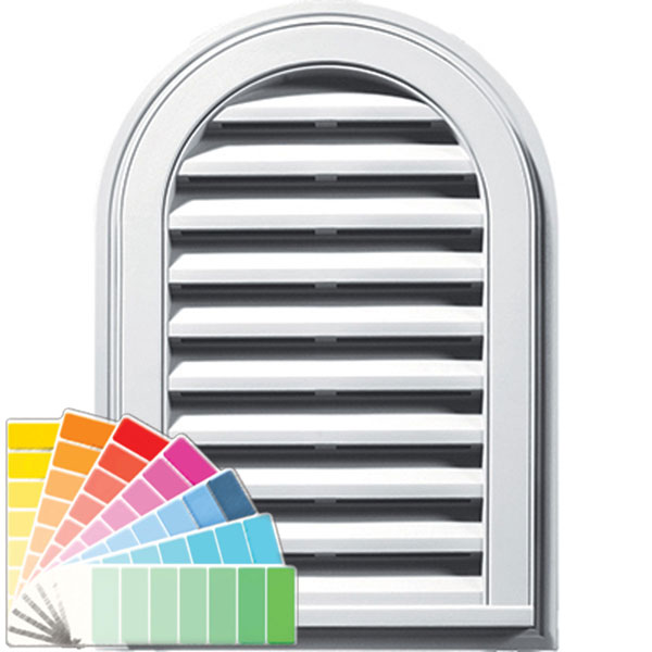 "14""W x 22""H Cathedral Gable Vent Louver, 50 Sq. Inch Vent Area"