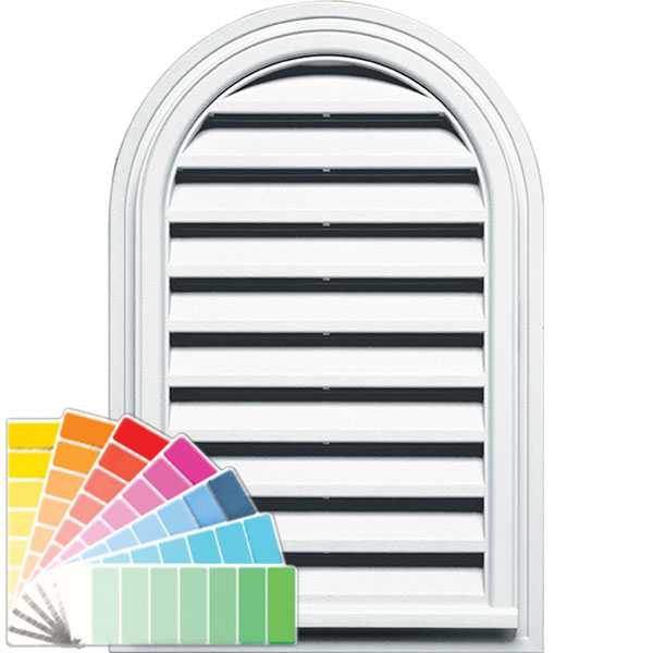 "22""W x 32""H Cathedral Gable Vent Louver, 70 Sq. Inch Vent Area"