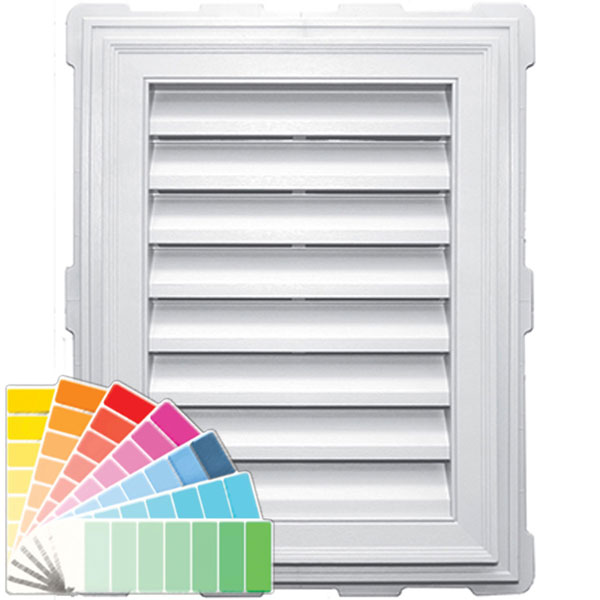 "18""W x 24""H Rectangle Gable Vent Louver, 140 Sq. Inch Vent Area"