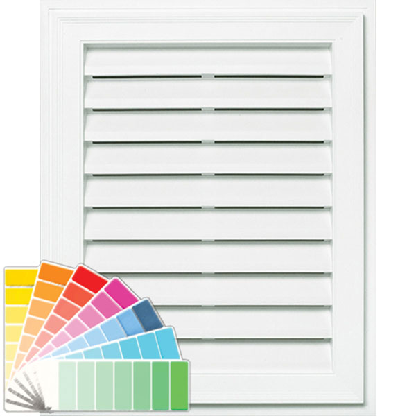 "20""W x 30""H Classic Rectangle Gable Vent Louver, 298 Sq. Inch Vent Area"