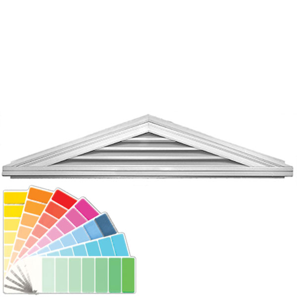 "14 1/2""H x 74""W Triangle Gable Vent Louver, 4/12 Pitch, 56 Sq. Inch Vent Area"