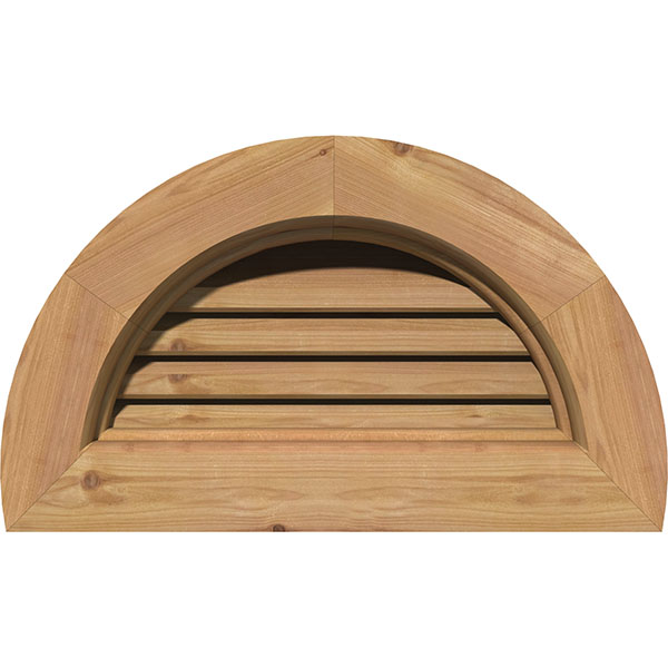 Half Round Wood Gable Vent