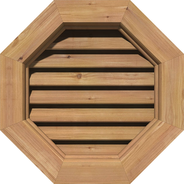 Octagon Wood Gable Vent