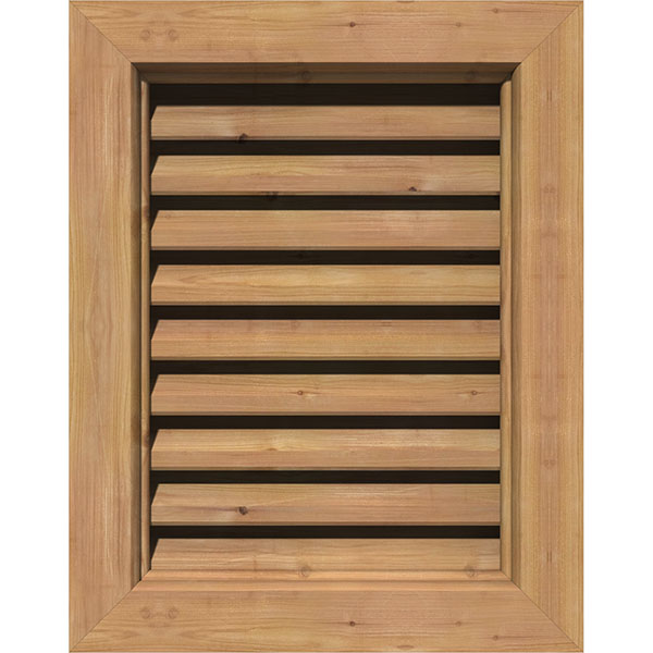 Vertical Wood Gable Vent