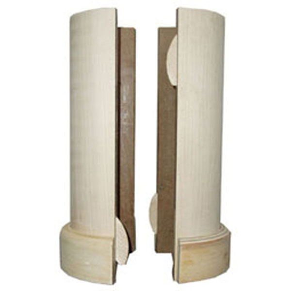 5 1/2 Inch X 96 Inch Lally Column Cover, With Top U0026 Bottom Trim, Maple