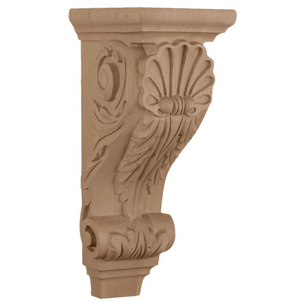 "5 1/4""W x 7 1/4""D x 14""H, Large Shell Corbel"