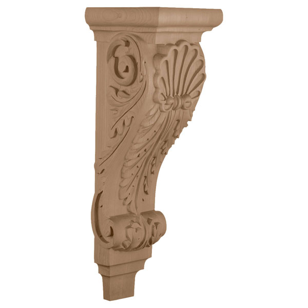 "6 3/4""W x 7 5/8""D x 22""H, Extra Large Shell Corbel"