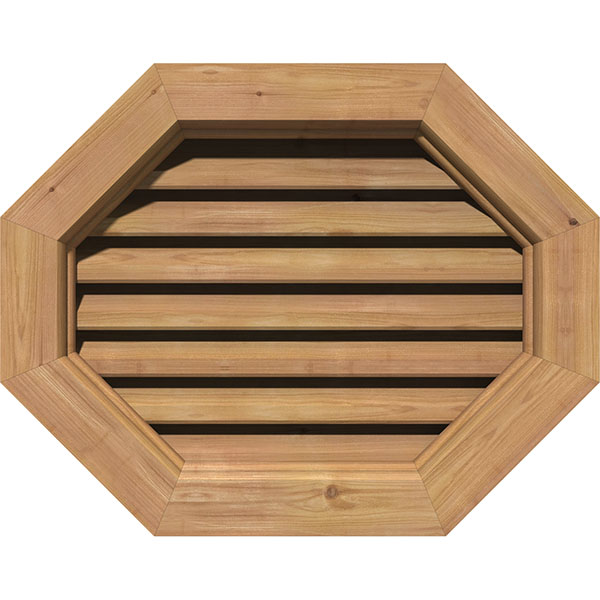 Horizontal Elongated Octagon Gable Vent