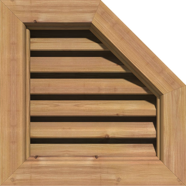 Half Octagon Top Right Gable Vent