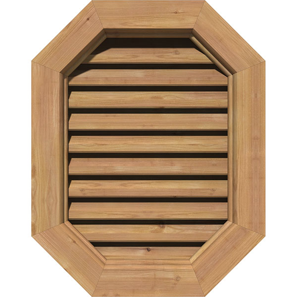 Vertical Elongated Octagon Gable Vent