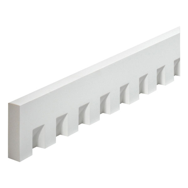 "4 1/2""W x 1 1/2"" Tooth/Space x 1 1/4""P, 8' Length, Classic Dentil Moulding"