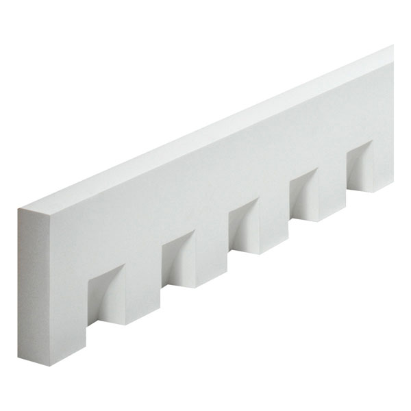 "5 3/4""W x 2 1/4""Tooth/Space x 1 5/8""P, 12' Length, Classic Dentil Moulding"