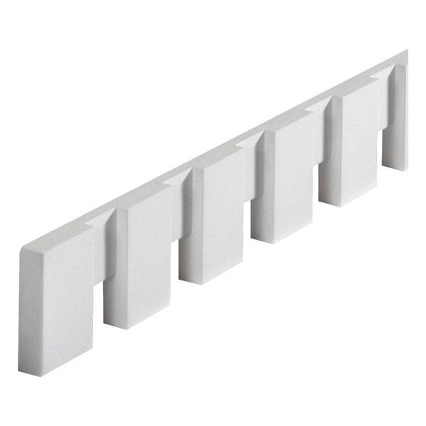 "3 1/2""W x 2 3/16""T/1 1/2""S x 7/8""P, 8' 3 3/4""Length, Dentil Block Moulding"