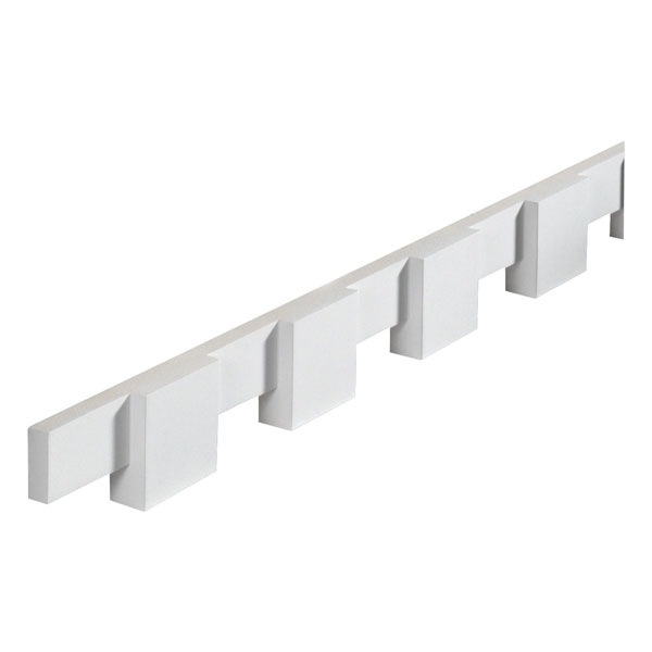 "3 1/4""W x 3 1/2""T/S x 1 1/4""P, 8' 2""Length, Dentil Block Moulding"