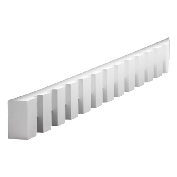"3 1/2""W x 2 3/16""T/1 1/2""S x 2""P, 8' 3 3/4""Length, Dentil Block Moulding"