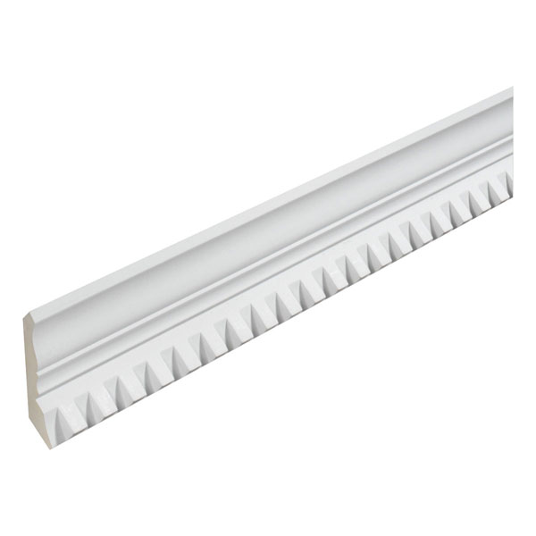 "3 3/4""H x 3 3/4""T/S x 2 1/2""P, 8' Length, Crown Dentil Moulding"