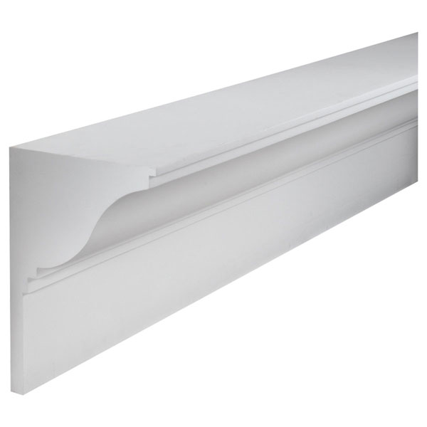 "15 1/4""H x 11 1/4""P, 12' Length, Crown Fascia Moulding"