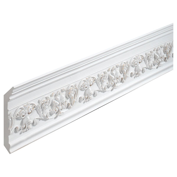 "5 7/16""H x 5 15/16""P, 11' 5""Length, Crown Florentine Moulding"