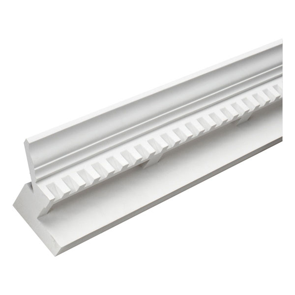 "6 3/16""H x 4 1/2""P Crown Dentil E-Vent, 12' Length"